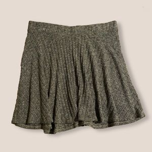 grey ribbed mini skirt